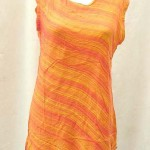 women's clothing sale. Fashionable angle cut rayon top.