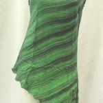 Tropical Dresses wholesale. Fashionable angle cut rayon top.