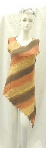 wholesale fashion tops. Fashionable angle cut rayon top.