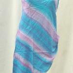 Wholesale summer dresses. Fashionable angle cut rayon top.
