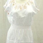 women's clothing wholesale. rayon women's top with embroidery on neck, shoulder and bottom, front and back.