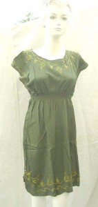 Wholesale rayon dress.rayon women's top with embroidery on neck, shoulder and bottom, front and back.