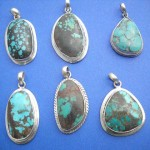 Wholesale Sterling Silver Jewelry. Variety shape sterling silver with turquoise inlay, randomly picked by our warehouse staffs.