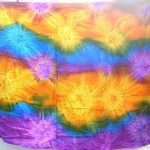 wholesale sarongs set. diamond wave rainbow tie-dye burst colourful sarongs.