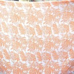wholesale sarong dresses. orange and white butterflies and palm leaves sarong.