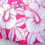 wholesale sarong. hot pink and white huge hibiscus sarong.