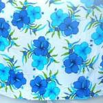 wholesale women's clothing. blue and white beach clothing canga sarong tropical aloha designs.