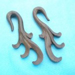 wholesale wooden earrings. long wooden plug.