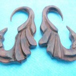 Wholesale organic wood jewelry. wood expander earrings.