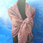 Silk Pashmina Shawls. assorted colors randomly picked by warehouse staffs.