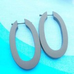 wholesale wooden earring earlets stretchers. wood pin earlets oval design.