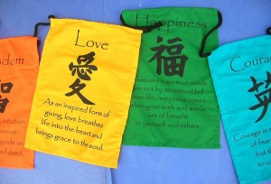 Small size prayer flag string, affirmation flags on string, Tibetian inspiration quotes banners string