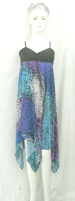 angle cut dress