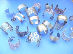 assorted wide bangle bracelets in fashion styles