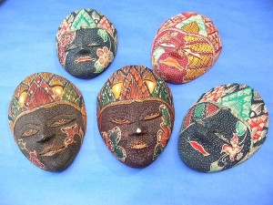 Bali handmade mini batik mask