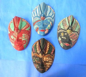 Bali handmade large size batik mask