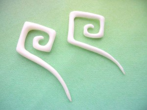 bone angled spirals piercings jewelry