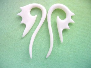 long bone peacock head ear stretchers