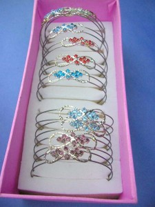 assorted design cz bangle, some have minor tarnished marks, on sale