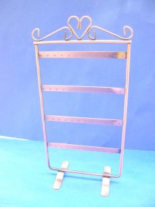 copper earring stand, earring holders jewelry display in retangular shape