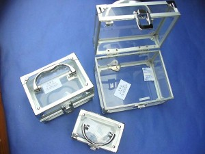cosmetic and jewelry case set of three