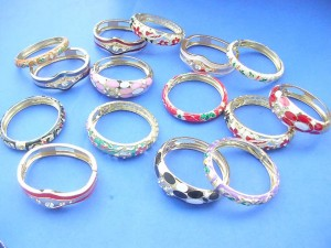 enamal bangles with cz crystals, assorted designs