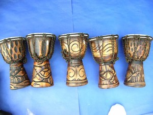 hand carved djembe drums made in Bali Indonesia