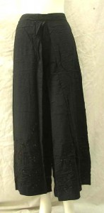 fake wrapping pants with embroidery designs, one size, rayon fabric, made in Indonesia