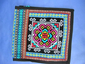 embroideried long strap shoulder bag made in China, colorful embroidery