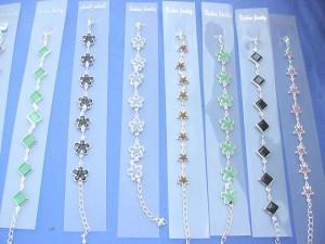 fashion bracelet in diamond, star, flowers etc designs