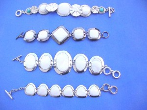 genuine seashells toggle bracelets