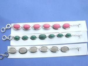 genuine gemstone bracelets with toggle clasp
