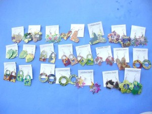 fashion earrings in assortment designs