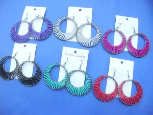 beaded circle fashion earrings