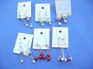 imitation pearl earrings assorted