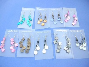 dyed seashell earrings assortment