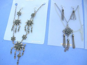earring necklace antique jewelry set assorted designs
