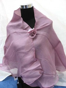 fashion polyester scarf with rose clip