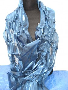 fashion polyester ruffle scarf