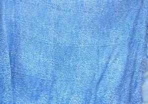 Balinese lava-lava screen print blue mini design on white fabric