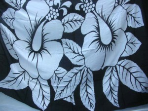 mixed color design hibiscus hawaiian flowers sarong