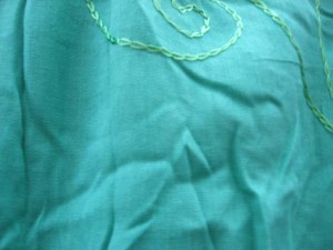 sarong bluish green plain with embroidery