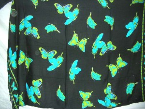 mix color butterfly garden theme sarong