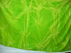 tie dye apparel green diamond burst Bali sarong