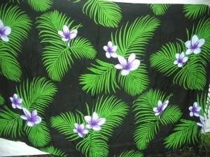 green black Aloha print tropical beach swimwear coverup