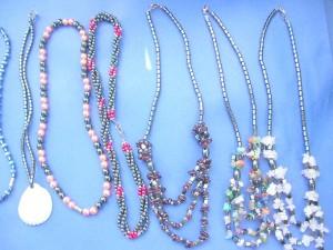 assorted hematite necklaces