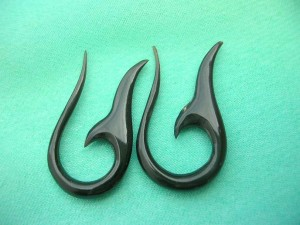 Tribal organic horn fish hook