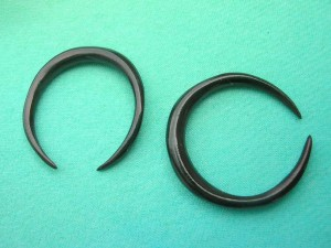 Organic Earring Hoops C-Taper Horn Jewelry