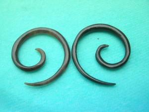 organic body jewelry horn spiral