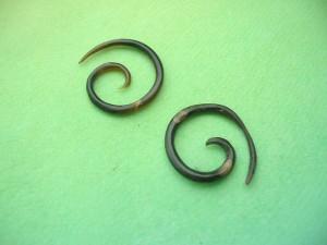 Organic Horn Talon Tapers spirals